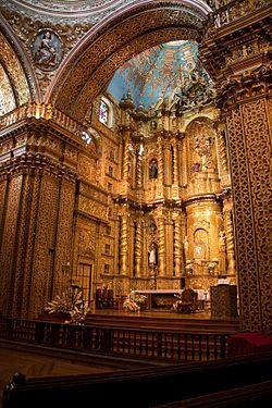 Interior de la Iglesia de la Compañía, Quito.