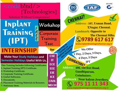 CodeBind Technologies offers free and best Inplant Training in