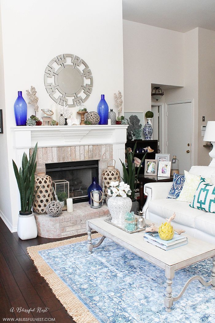 if you love the coastal look then this one is for you touches of coral blue and white and gorgeous wood textures were used to create this show stopping