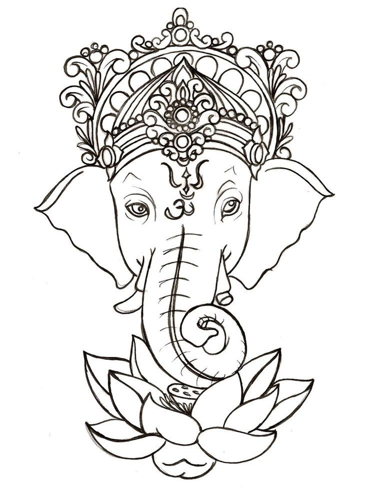 Ganesh with Lotus Tattoo by ~Metacharis on deviantART: | Cool things ...