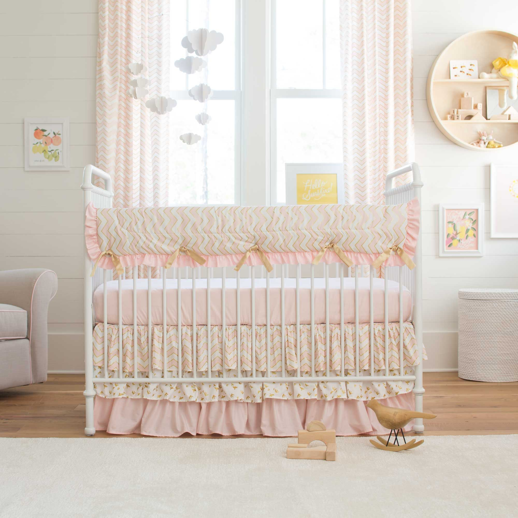 and peach coral girl by crib floral shell design peanut nursery blue piece ideas sets great bedding patchwork cribs baby mila