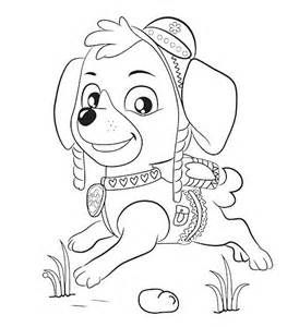 Skye Paw Patrol Coloring Pages Sketch Template Kleurplaten Kerst
