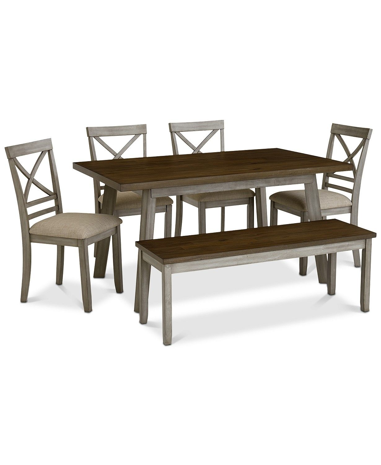 Furniture Fairhaven Dining Furniture 6 Pc Set Table 4