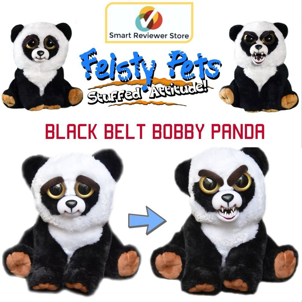 Feisty Pets Cute To Scary Stuffed Animal Plush Squeeze Toy Prank