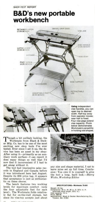 Vintage Veloce New Top Jaws For The Black Decker Workmate 79 001 Type 2 Wm625 Black Decker Decker Portable Workbench
