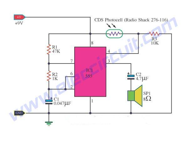 2 light detector circuits using ic 555 and c3140 meters rh pinterest com
