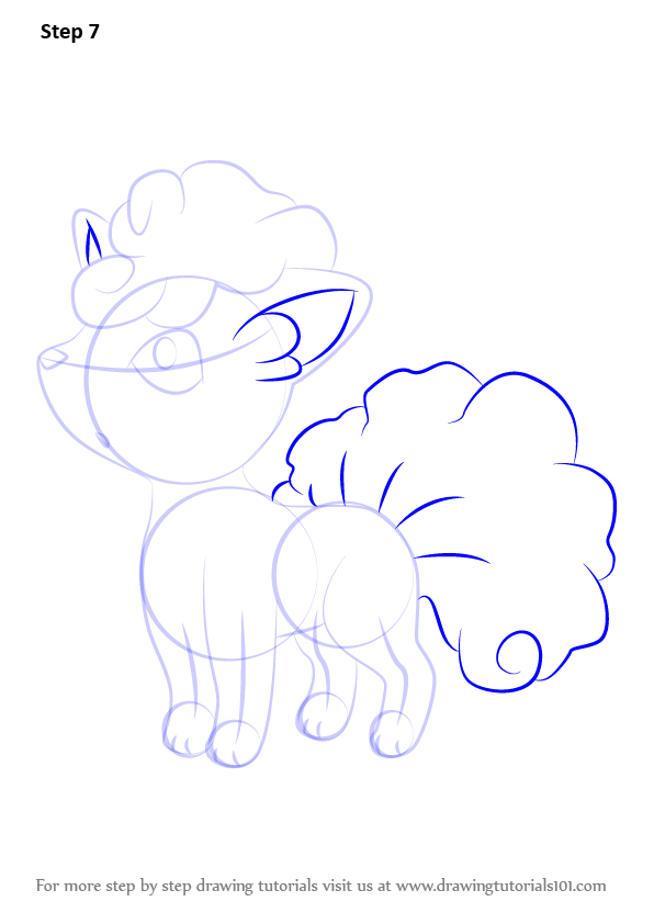 How to Draw Alola Vulpix from Pokemon Sun and Moon ...