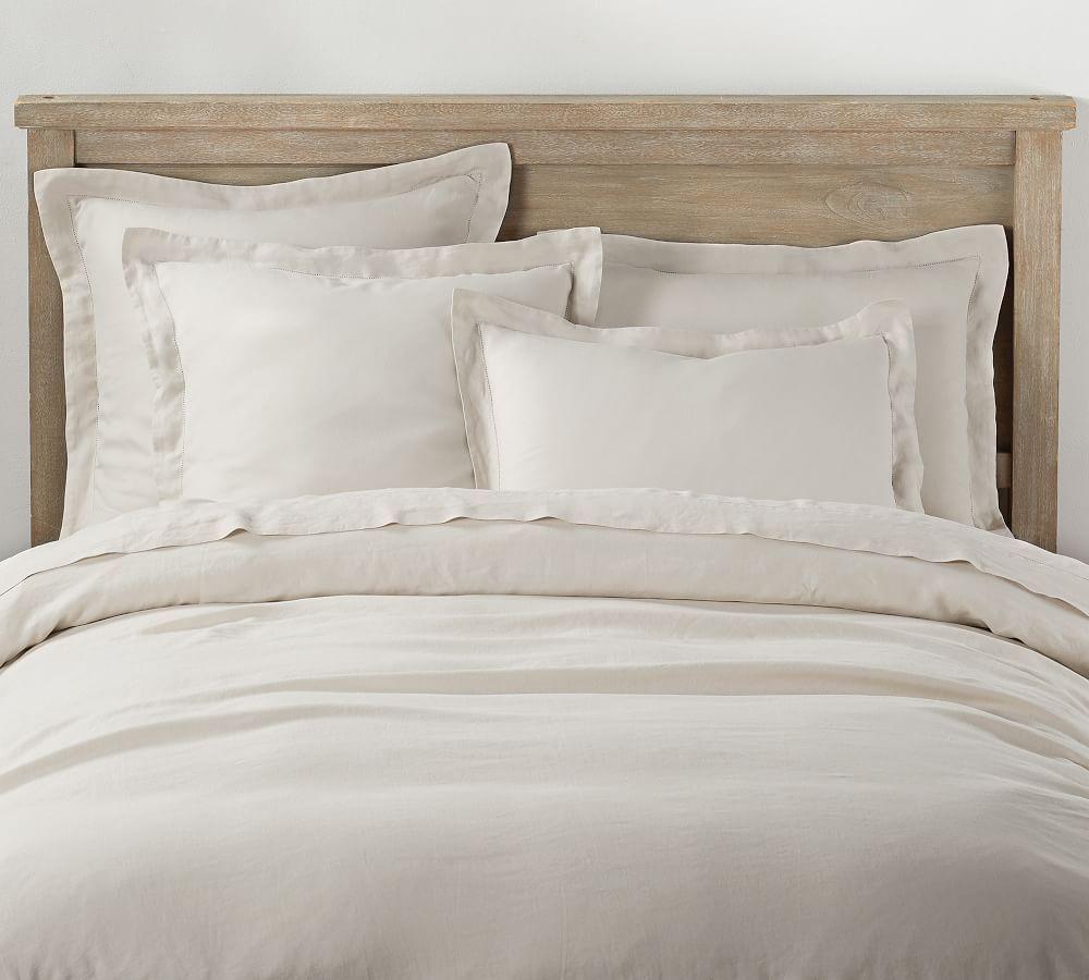Linen Duvet Covers Shams Pottery Barn Bed Linen Design Bed