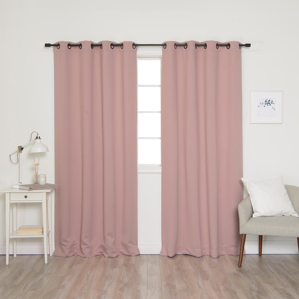 Best Home Fashion 63 In L Onyx Grommet Blackout Curtains In Beige