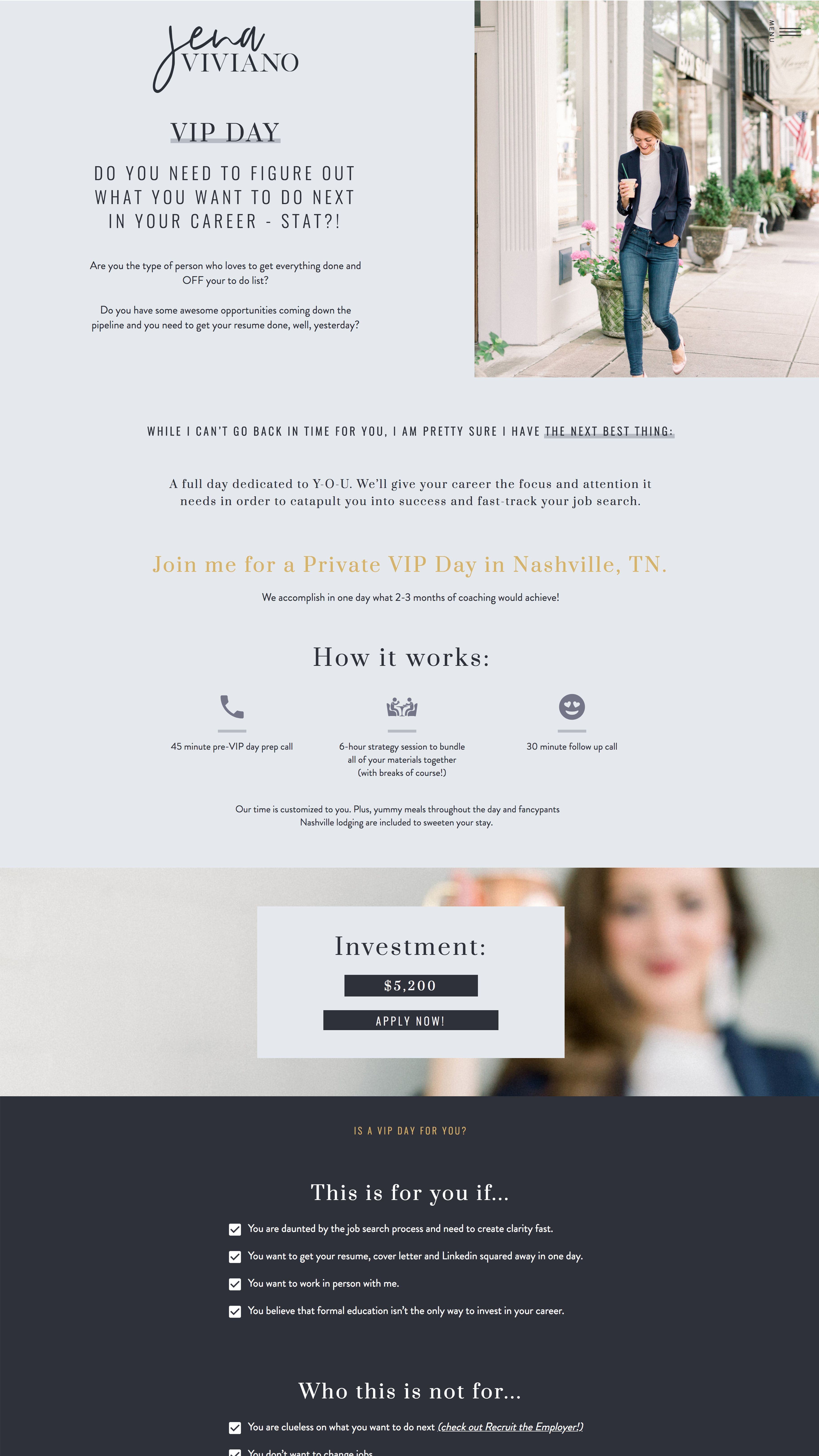 Service Package Website Design Idea Showit5 Gorgeous Service Page For A Career Coach Branding Website Design Website Design Web Development Design