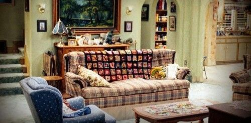 Roseanne S Couch Tattoo Idea Home Decor Living Room Couch Roseanne living room zoom background
