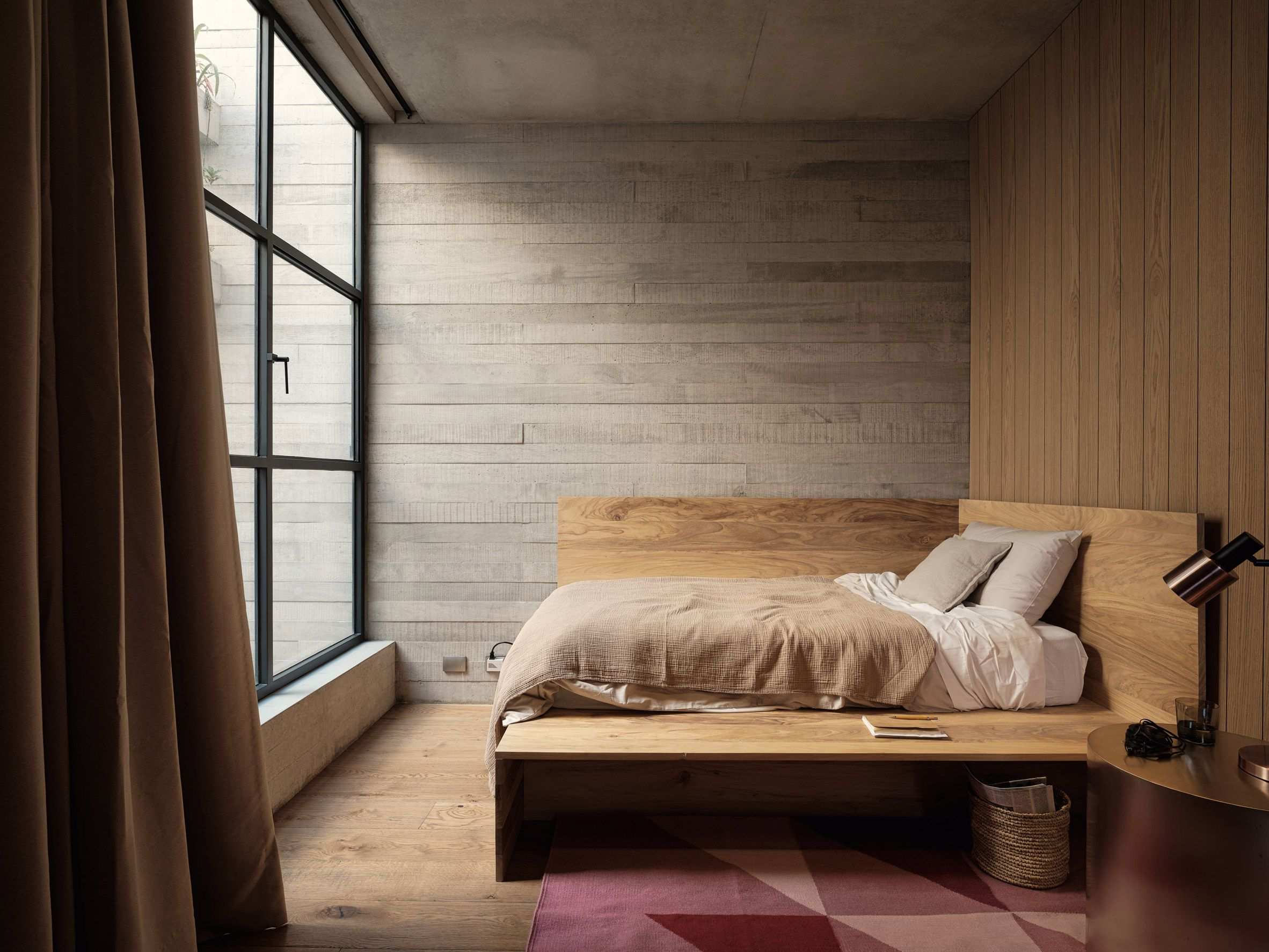 Studio Rick Joy Designs Concrete Apartments Polanco In Mexico City Concrete Design Interior Built In Bed