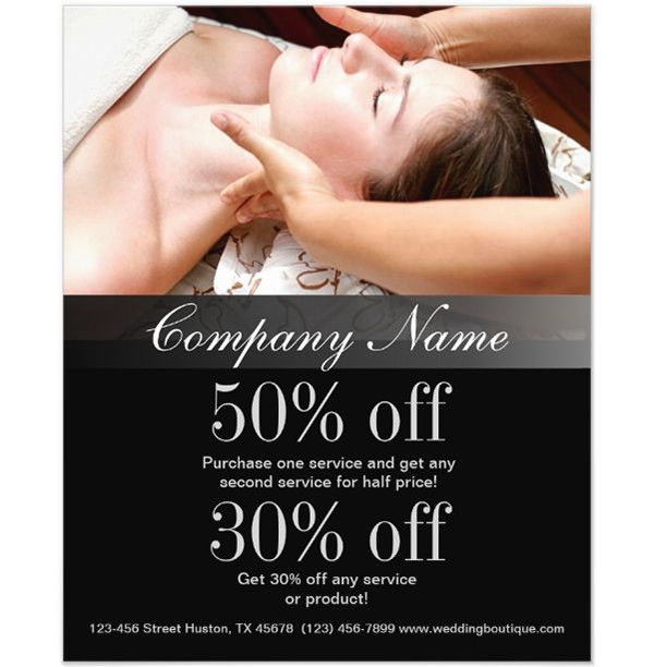 Customize Massage Salon Beauty SPA Business Flyers 66+ Beauty - hair salon flyer template