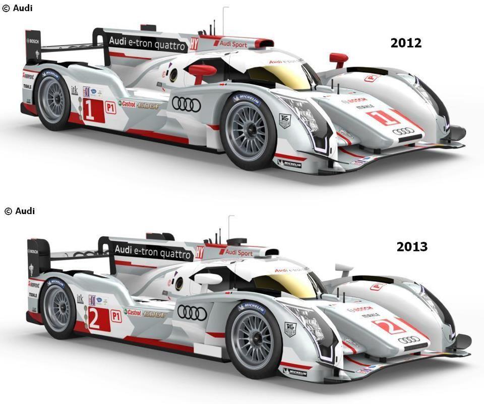 2012 And 2013 Audi R18 E-tron Quattro