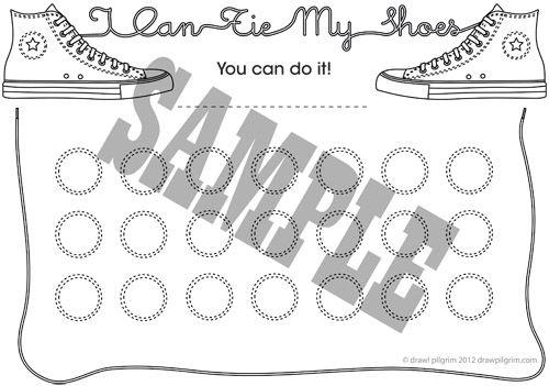 I can tie my shoes achievement chart   Tie shoelaces, Shoe ...