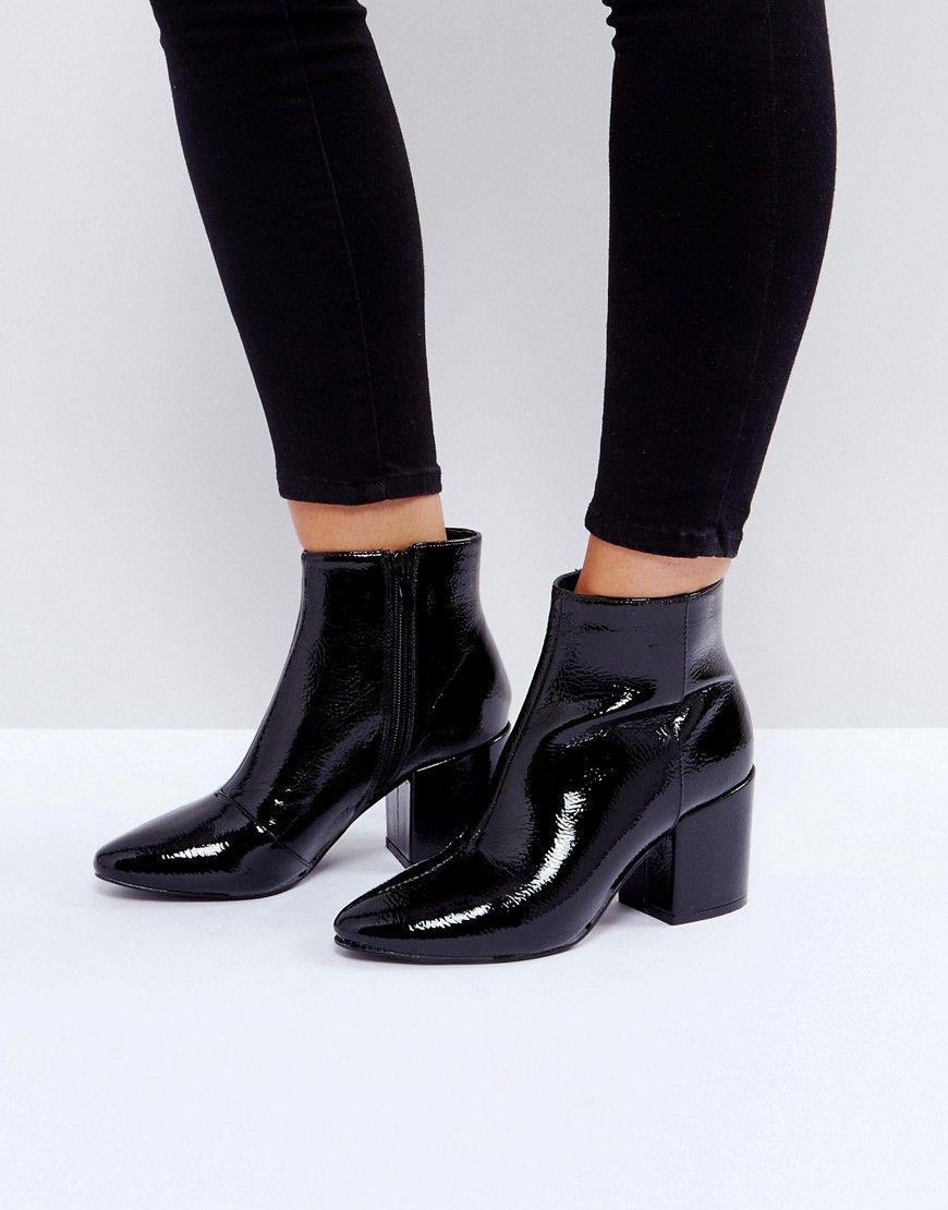 online store 7c689 65edb RAID Rapple Patent Heeled Ankle Boots | Style | Stiefeletten ...