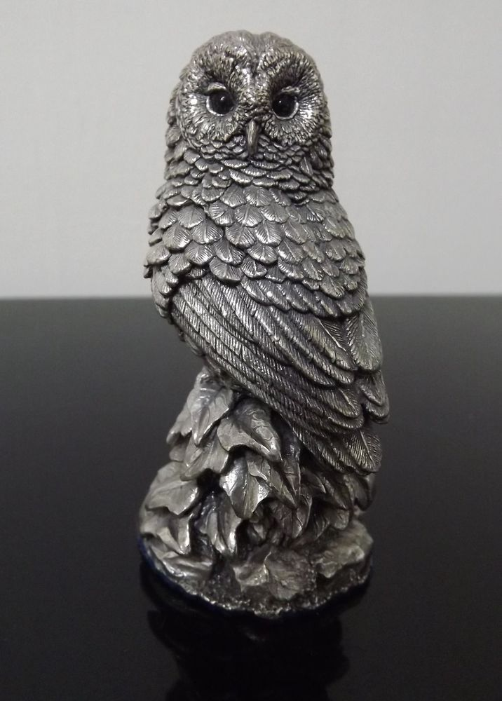 Owl. Country Artists filled sterling silver 1989 hallmarked. 3  high.