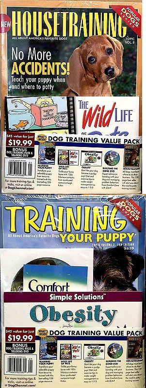 Training Videos and Books 116387: Dog Channel Dog Training Value Pack~Train Your Puppy~House Train Your Dog And Buil -> BUY IT NOW ONLY: $32.54 on eBay!