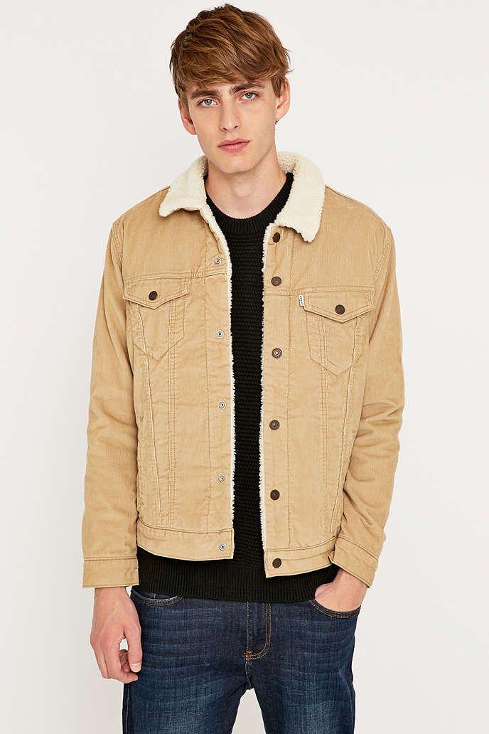 9afe30d8f05b6 Levi s Chino Corduroy Sherpa Trucker Jacket   Jug head jacket ...