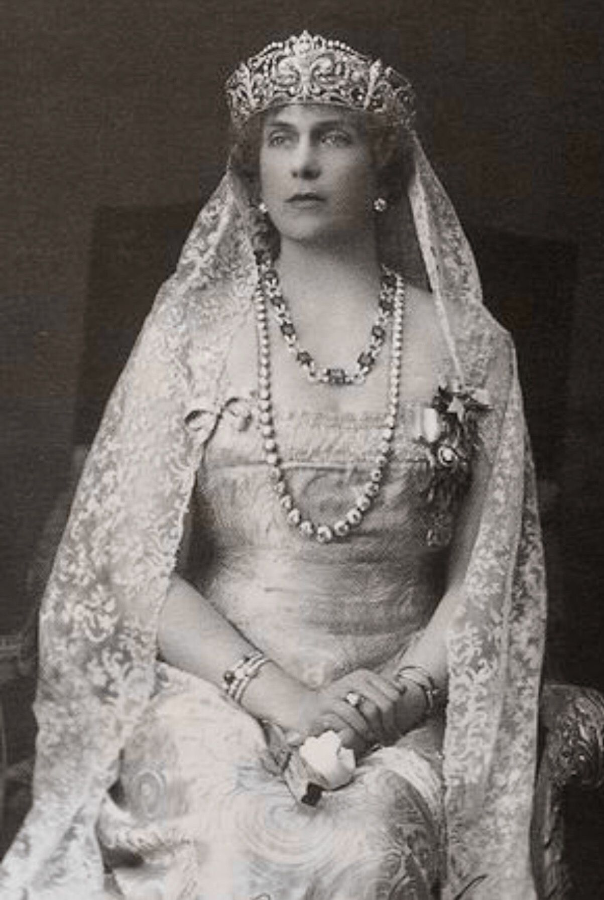 "Princess Victoria Eugenia ""Ena"" of UK, Queen Victoria's daughter, like Queen Victoria Eugenia of Spain , got married with HRH King Alfonso XIII of Spain."