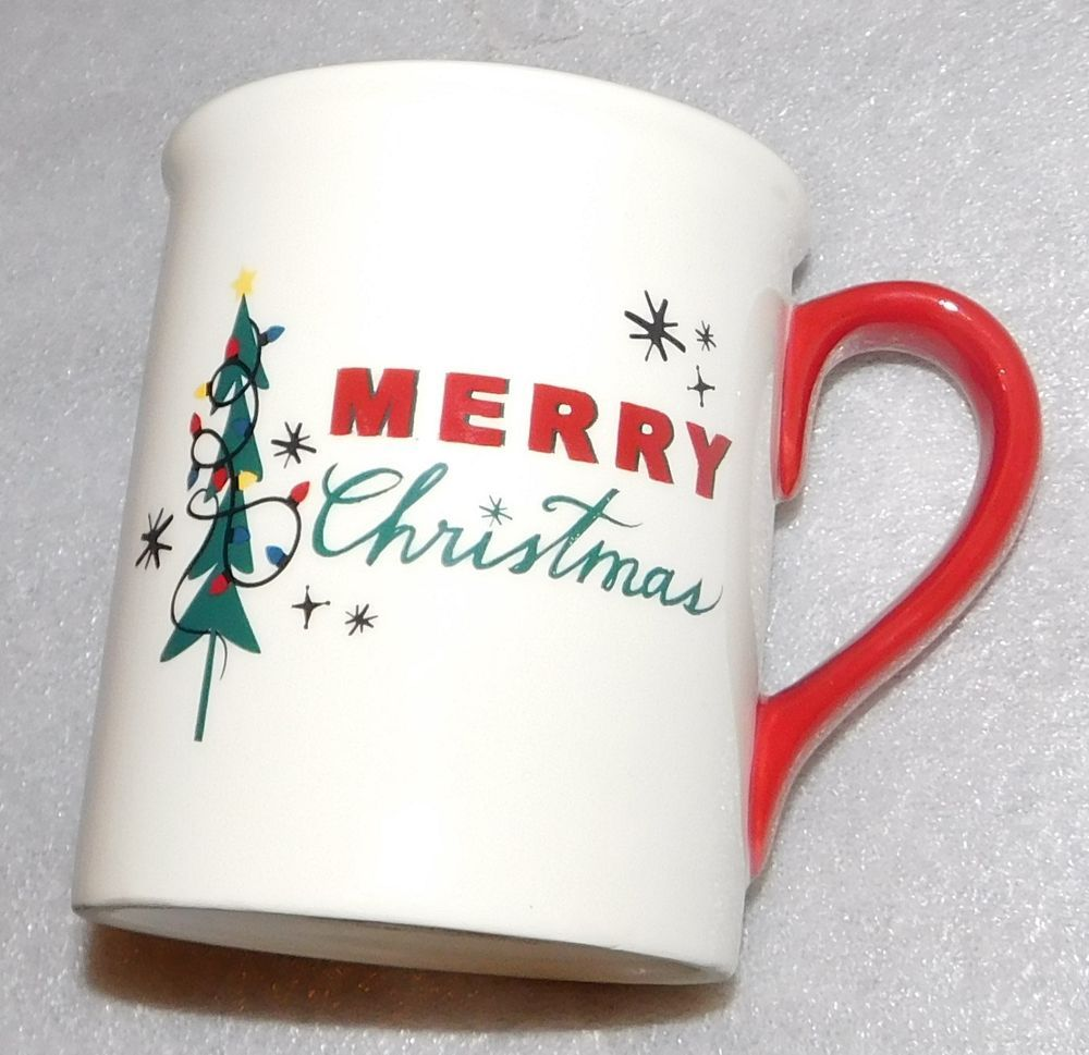 Holiday Home Merry Christmas Tree Lights Ceramic Mug Dishwasher ...