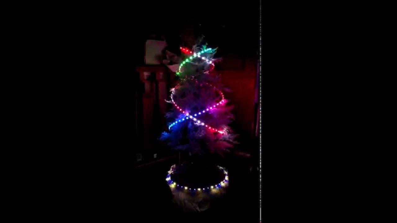 Arduino Controlled Christmas Tree Ws2812b Rgb Led Neopixels Led Christmas Tree Rgb Led Arduino