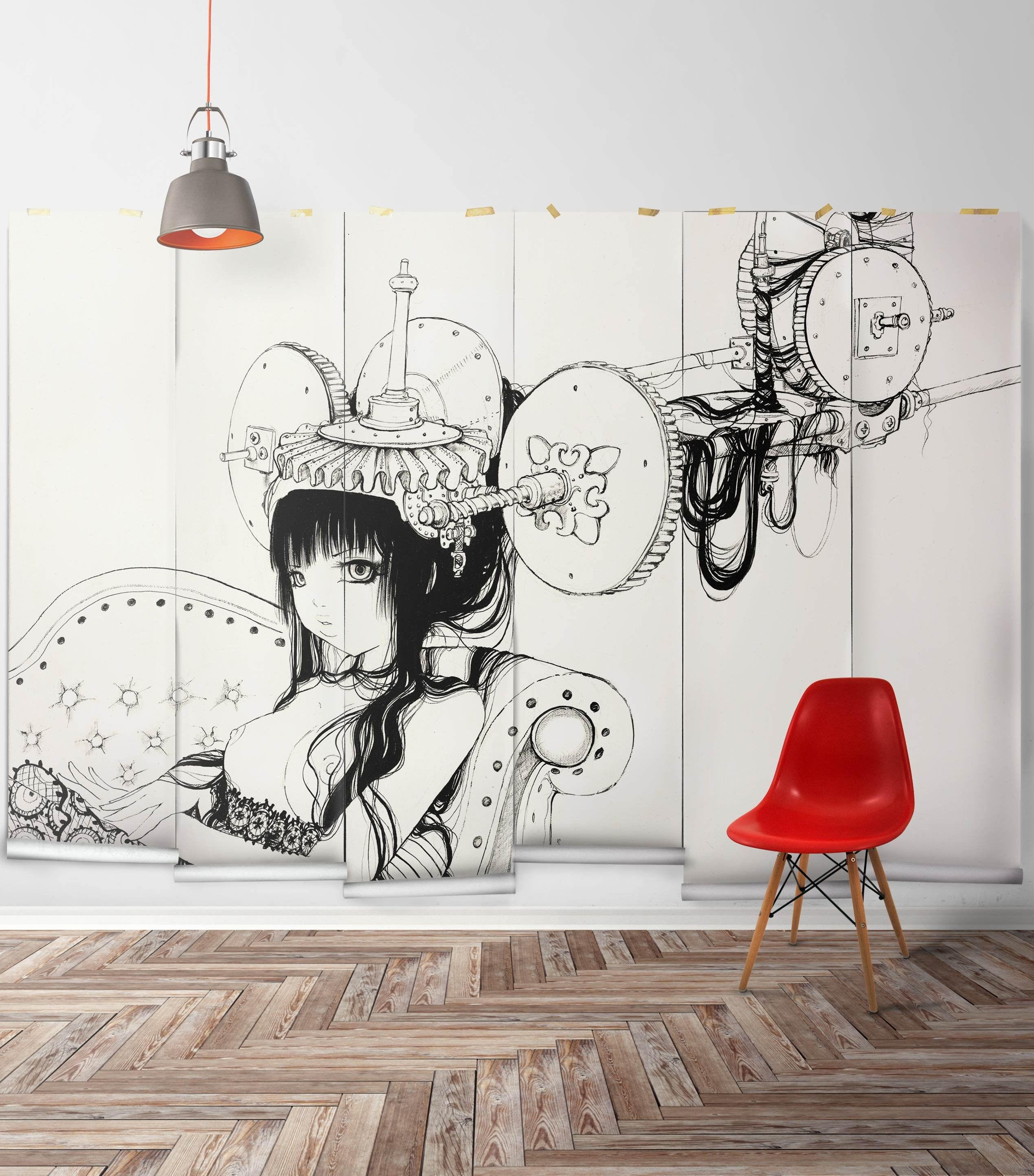 Forge Machine Wall Mural By Camilla Derrico - Wallpaper Republic