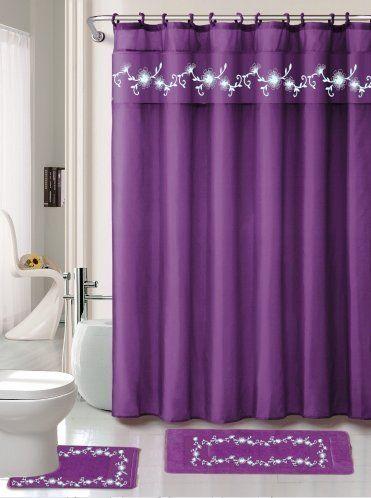 Robot Check Purple Shower Curtain Purple Bathrooms Bathroom Sets