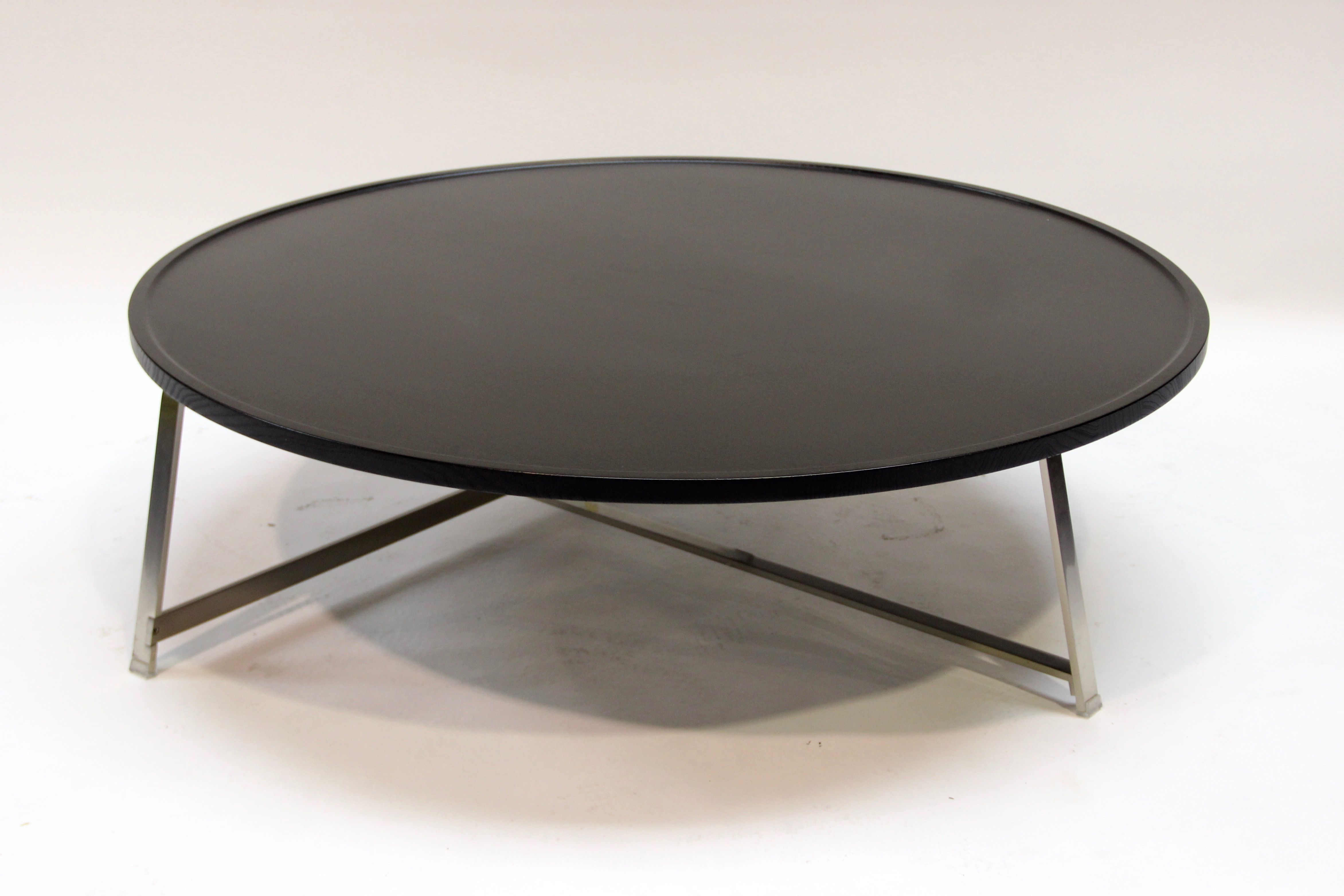 grande table basse ronde alex par flexform - Grande Table Basse Ronde