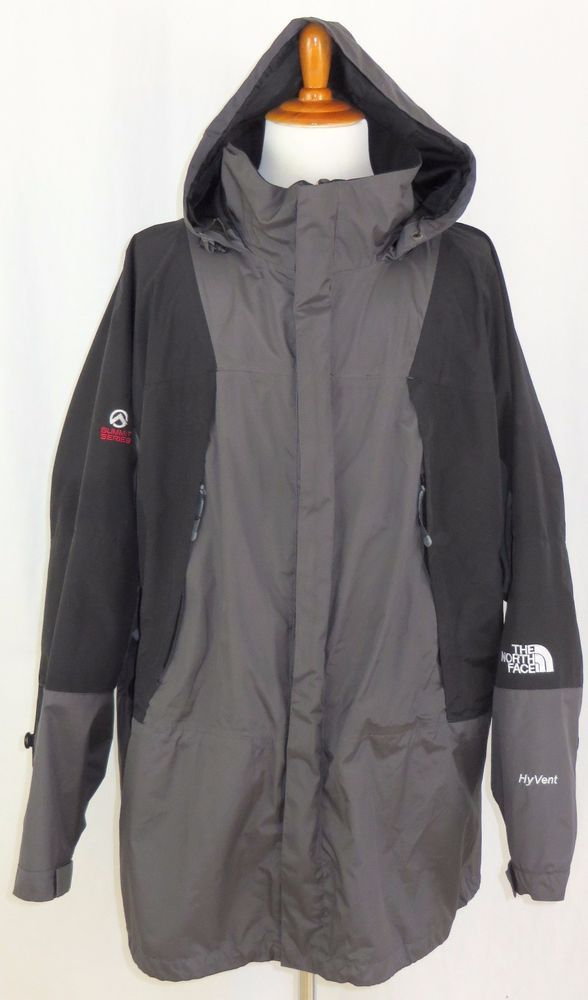 7e6856a8a Mens North Face Summit Series HyVent Gore Tex Rain Jacket Coat Gray ...
