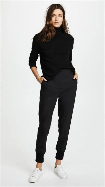 99 Wonderful Winter Outfits Ideas With Black Pants To Copy