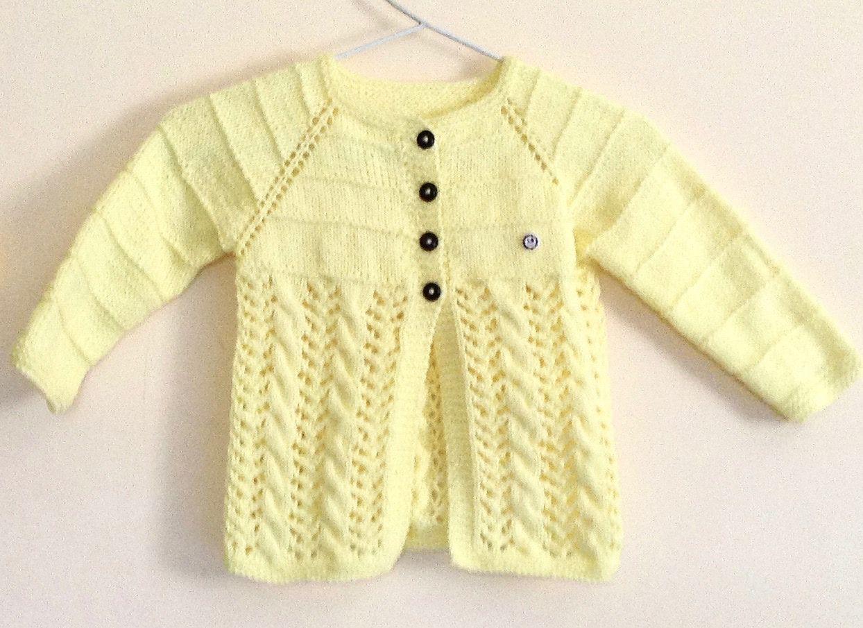 Free Knitting Pattern for a Lemon Swing Kids Jacket | Free ...