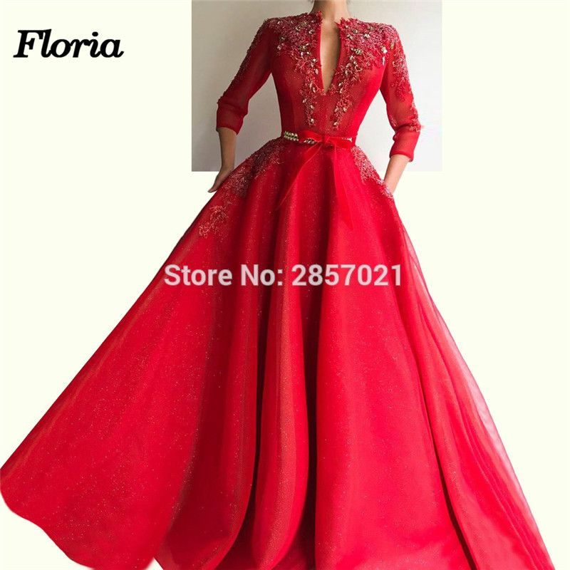 Weddings & Events New Arrival Satin Long Evening Dress 2019 Dubai Kaftan Prom Dresses Abiye Abendkleider Arabic Evening Gowns Robe De Soiree