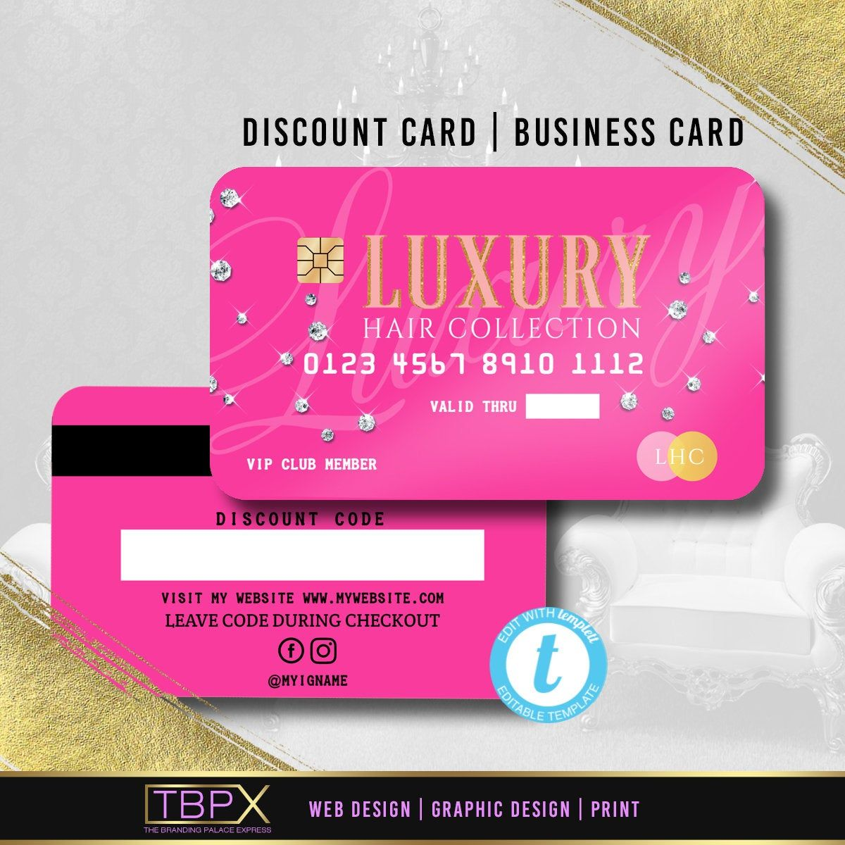 Credit card styled discount card 1 business card with