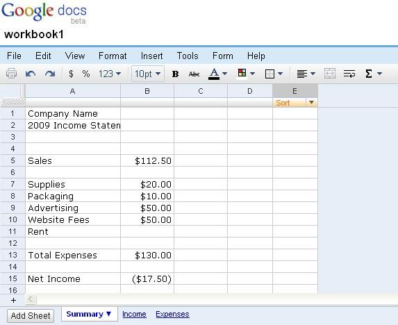 Bookkeeping for Creative Businesses - Tutorial with Free Template - business expense spreadsheet template