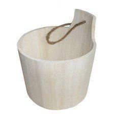 Panier en bois Sauna, coloris naturel   Panier bois, Bois naturel, Panier salle de bain