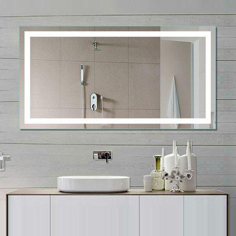 Illuminated Mirror Harmony 48 X 24 In Illuminated Mirrors Led Mirror Bathroom Bathroom Mirror Lights
