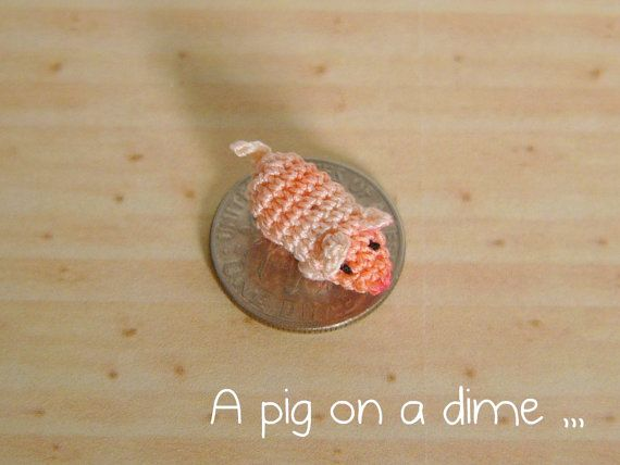 This pig is just one of so many adorable mini crocheted animals and ...