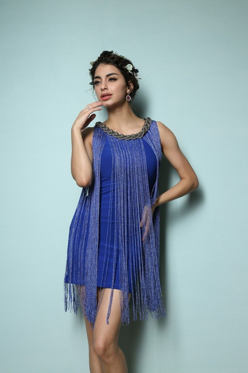 Ombre Fringe 20s Flapper Metallic Great Gatsby Jazz Theme Party ...