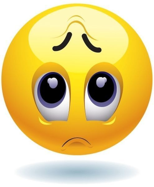 Emoticon Sad Face Match Your Mood High Quality Iron On Transfer