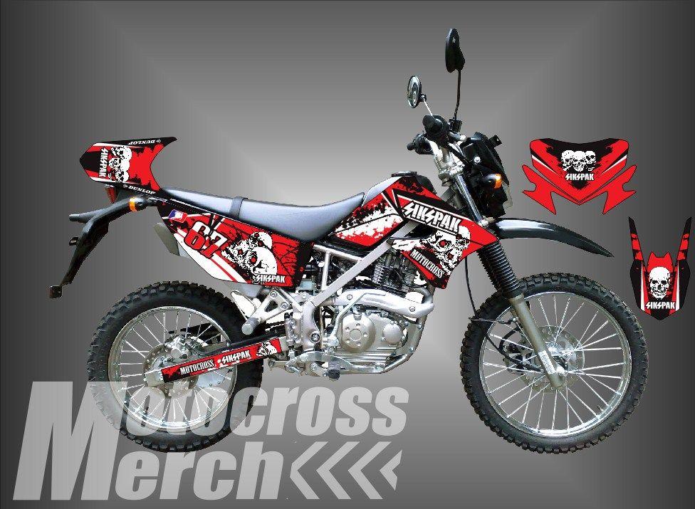 Decal Klx 150 Decal Dtracker 150 Sikspak Motocross Metal