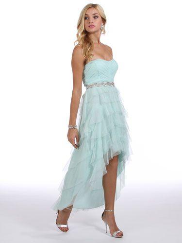 Mint, High-Low Dress