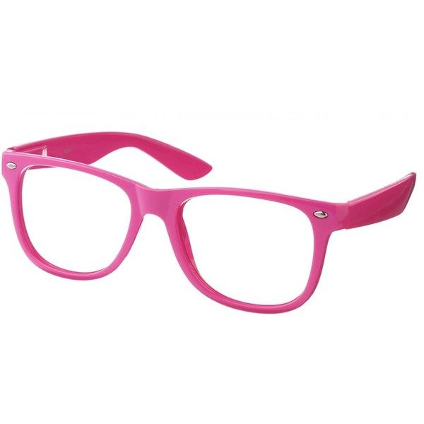 Pink Neon Geek Glasses Accessories ($12) ❤ liked on Polyvore