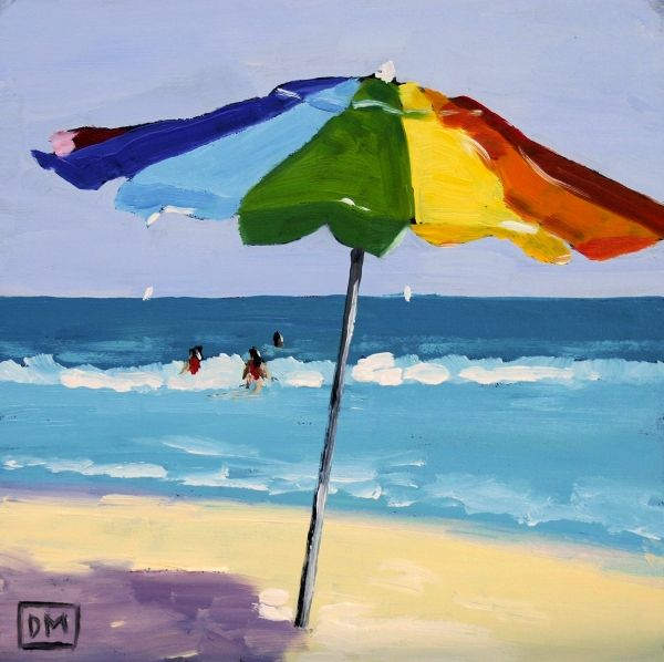 A Colorful Spot By Debbie Miller Beach Scene Painting Beach Art
