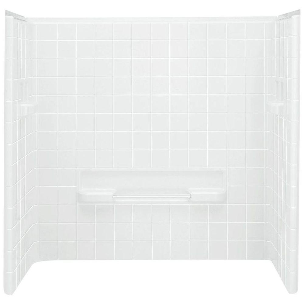 Sterling All Pro 60 In X 31 1 2 In X 59 In 3 Piece Direct To Stud Tub Surround In White In 2020 Tub Surround Sterling Shower Bathtub Wall Surround