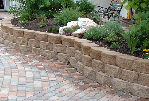 raised stone shrub beds for front wallshow to build retaining - Retaining Wall Blocks Design
