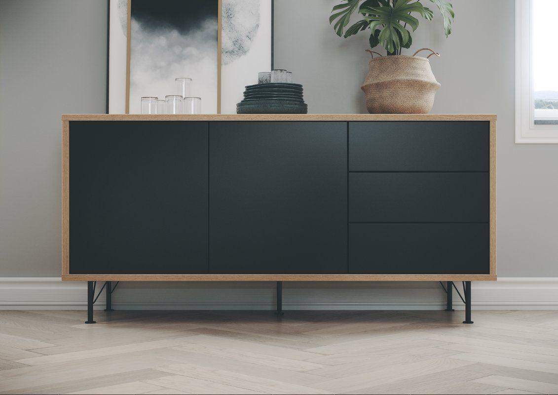 Flow Designer 2 Door 3 Drawer Sideboard Dining Room Console Sideboard Furniture Interior