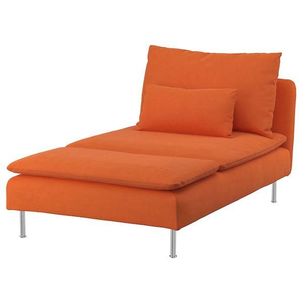 Soderhamn Chaise Longue Samsta Orange Ikea In 2020 Ikea Chaise Longue Chaise