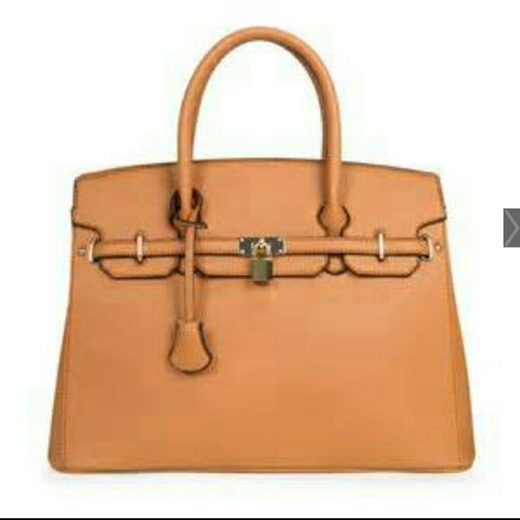 """JustFab """"Icon"""" This bag will give you that Hermes Birkin look for less. Brand new w/ tags attached. JustFab Bags Satchels"""