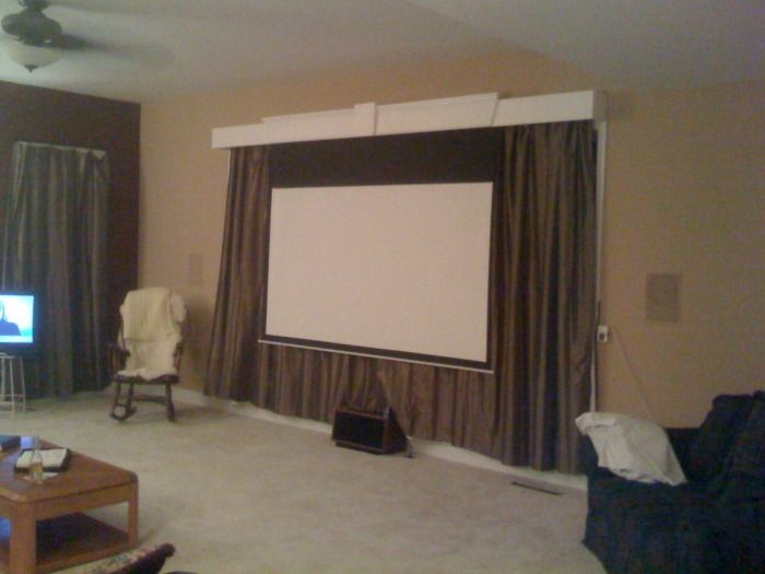 Projector Screen Valance Google Search Home Theater